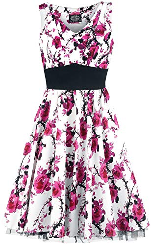 H&R London Pink Floral Dress Mittellanges Kleid weiß/pink M -