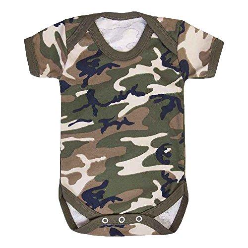 Contact Left Baby Jungen (0-24 Monate) Body mehrfarbig camouflage Gr. 6-12 Monate, camouflage (Baby-camo)