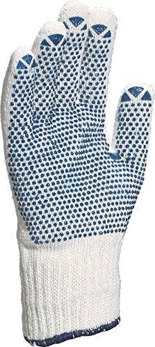 Gant Tricot Polyester/Coton - Paume Picots Pvc - Jauge 7 TP169 - 9