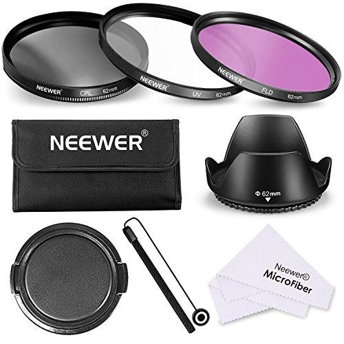 Neewer 62 Professionale Lenti Filtri Accessori Kit per Canon Nikon Sony Samsung Fujifilm Pentax e altre Fotocamere DSLR con Filettatura 62