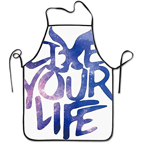 Green Apron Outfitters Live Your Life Funny Cooking Apron for Men Women - BBQ Grill Kitchen Chef Barbecue Gifts, One Size Fits Most