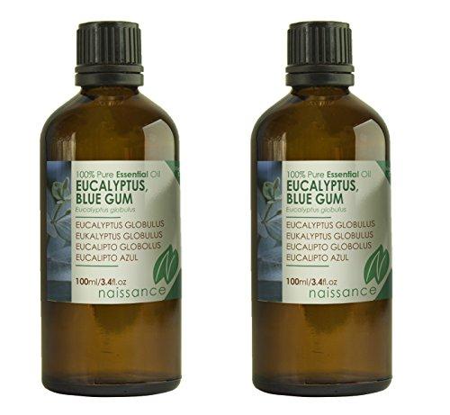 Naissance Olio di Eucalipto Globolus - Olio Essenziale Puro al 100% - 200ml (2x100ml)
