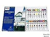 Acrylic Paint Set 18 Vibrant Colors Prof...