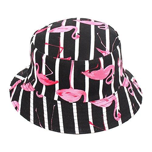 Gysad Fischerhüte Sonnenhut Strandhut Fishermütze Bucket Hat Leinwand Mädchen Süß Flamingo Faltbar Geeignet zum Wandern, Camping, Wandern, Angeln, Radfahren Outdoor-Hut, 1PCS-#4
