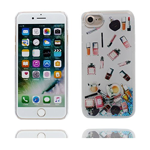 """iPhone 6 Plus Coque, Bling Glitter Flowing Funny Silicone Ultra Slim, Case iPhone 6s Plus Étui 5.5"""", Shock Dust Resistant Shell iPhone 6 Plus Cover 5.5"""" (Grand Flamant) blanc"""