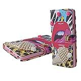 Spritech (TM 3D Handmade Bling Diamond Design Case Luxus PU Leder Wallet Case Flip Cover Kartenfächer Ständer Feature Hartschale Caver Fall für Samsung Galaxy Note 3