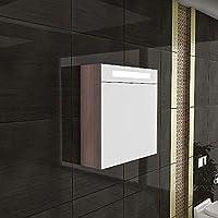Comparador de precios - Armario con espejo de iluminación/S-60/mueble/marrón/baño/baño/Top oferta/diseño espejo/ - Muebles de baño - Belezza