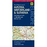 AA Road Map Austria, Switzerland & Slovenia (Road Map Europe 5) (AA Road Map Europe)