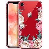 OOH!COLOR Bumper Compatible pour Coque iPhone XR Transparente Motif Fleur Silicone...