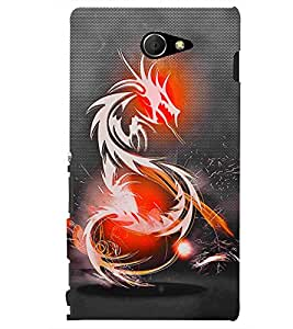 PRINTSHOPPII DRAGON Back Case Cover for Sony Xperia M2 Dual D2302::Sony Xperia M2