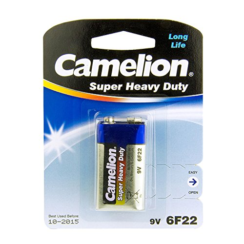 Camelion 10200122 Super Heavy Duty Batterien 6F22 9 Volt Block/ 1 Stück 6f22 Super Heavy Duty Batterien