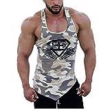 Tank Top Herren | Muskelshirt ideal für Sport Gym Fitness & Bodybuilding | Muscle Shirt DOTBUY - Lässig Tanktop - Unterhemd - Achselshirt – Sportshirt (M, Khaki Camo)