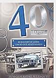 A4 XXL Geburtstagskarte Herren zum 40. - Sportwagen