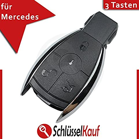 Mercedes Benz 3botones llave Carcasa Mando a distancia para w203W204W211cromo Key Llave de Coche Nuevo