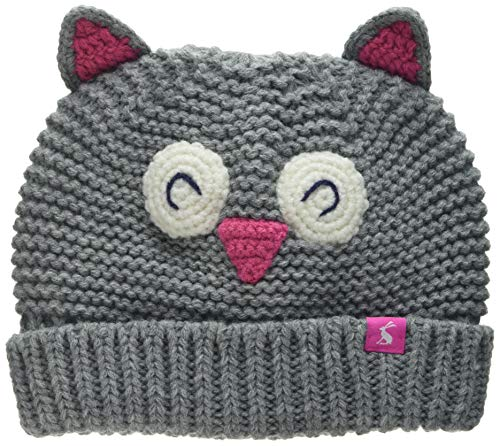 Joules Baby-Mädchen Chummy Hut, Grau (Owl), S