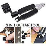 OriGlam 3 IN 1 Multifunctional Guitar Tool Guitar String Winder + String Cutter + Pin Puller Instrument Accessories
