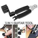 OriGlam, strumento multifunzionale 3 in 1 per chitarra,stringicorde, tagliacorde, estrattore per pioli, accessorio per strumenti musicali