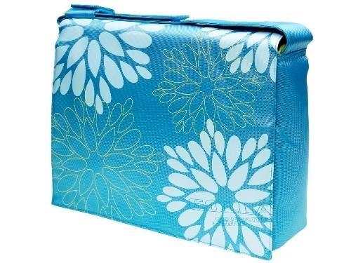 golla-besace-pour-ordinateur-portable-picnic-13-nylon-turquoise-motifs-bleu