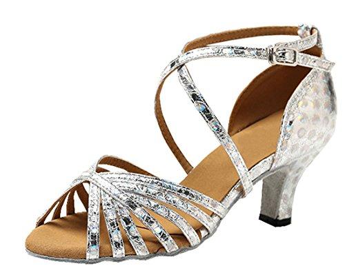 TDA ,  Damen Peep Toes 6cm Silver