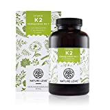Vitamin K2 MK7 - 365 Kapseln im 12 Monatsvorrat. Absolute Spitzenqualität mit >99% All-Trans. 200 µg natürliches Menaquinon (MK-7). Hochdosiert, vegan und hergestellt in Deutschland