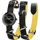 Versace Damenuhr VEBN00518 V-Flare Leder schwarz