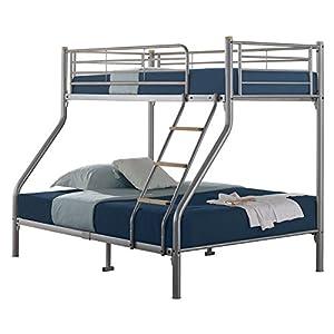 Julian Bowen Atlas Triple Sleeper Bunk Bed Frame, 90 And 135Cm In Aluminium