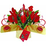 Second Nature Love with Bunch of Roses Pop Up Greeting Card