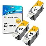 3 XL NEGRO Compatibles Kodak 30XL Cartuchos de tinta para Kodak ESP C100, C110, C115, C300, C310, C315, C330, C360, 1.2, 3.2, 3.2S, Office 2100, 2150, 2170 AIO, Hero 2.2, 3.1, 4.2, 5.1 / 30B