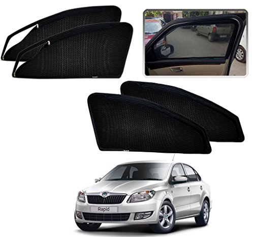 auto pearl - premium quality zipper magnetic sun shades car curtain for - skoda rapid - set of 4 pcs Auto Pearl – Premium Quality Zipper Magnetic Sun Shades Car Curtain For – Skoda Rapid – Set of 4 Pcs 51uFgKHHAoL