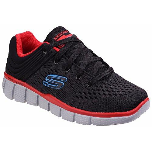 Skechers Equalizer 2.0 Post Season, Sneakers Basses Garçon Gris foncé/Noir