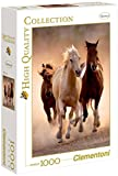 Clementoni Puzzle 39168 - Running horses - 1000 pezzi High Quality Collection
