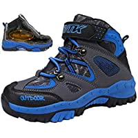 Boys Snow Shoes Comfortable Kids Winter Boots Boys and Girls Trekking Ankle Support Travelling Camping Shoes
