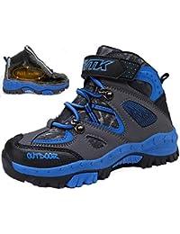 VITIKE VTKZapatos de Senderismo Niño Zapatos de Botas de Invierno para Niños Botas de Senderismo Cálido Forro Botas de Montaña Deportiva Cómoda Niño al Aire Libre Senderismo Trekking Zapatos