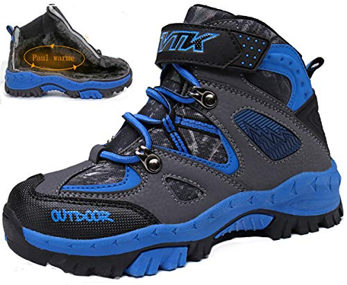 Kinder Baumwollschuhe Kletterschuhe Dschungel Jungen Gehen Trekking Leicht Draussen Sportlich Schuhe Wanderschuhe, 0-schwarz, 29 EU