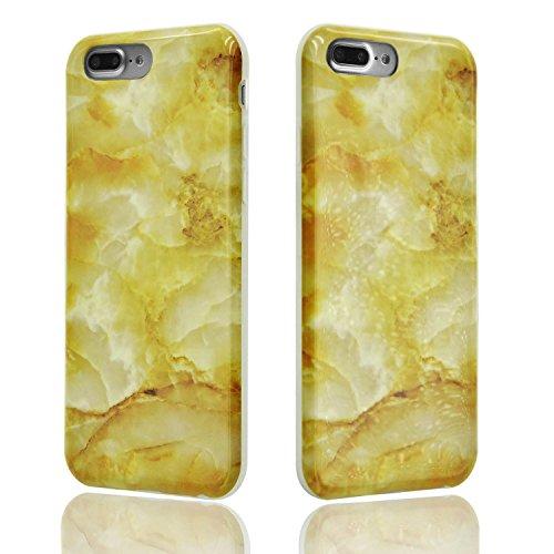 iPhone 8 Plus Hülle, iPhone 8 Plus Marmor Handyhülle, iPhone 8 Plus Marble Hülle, Sunroyal Marmor Serie Flexible TPU Silikon Schutz Handy Hülle Handytasche HandyHülle Schale Case Cover Schutzhülle für Farbe 30