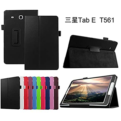 Samsung Galaxy Tab E 9.6 Case,Mama Mouth PU Leather Folio 2-folding Stand Cover with Stylus Holder for 9.6