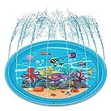 Kitabetty Aufblasbare baby klopfte pad, outdoor sommer streuen und spritzen spielmatte wasser splat matte für baby kinder schwimmbad strand rasen wasser spielen spielzeug