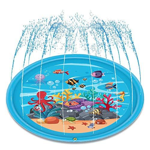 e baby klopfte pad, outdoor sommer streuen und spritzen spielmatte wasser splat matte für baby kinder schwimmbad strand rasen wasser spielen spielzeug ()