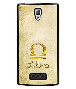 Fabcase zodiac signs libra golden theme astrology 2017 Designer Back Case Cover for Lenovo A2010