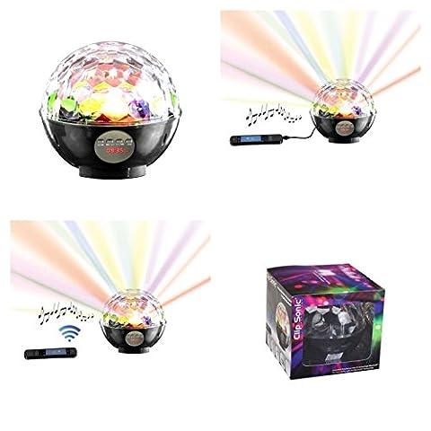 Bluetooth Lautsprecher als Discokugel Party Leuchte Bunte Lichteffekte Disko Kugel (FM Radio, Discolicht, Discokugel, Partylicht, Stimmungsleuchte, 15 x 15 cm, Musikbox, Party Lampe,