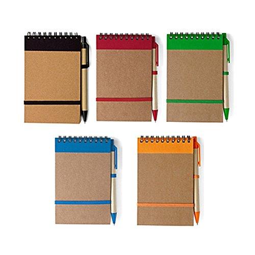 The Simon 2335NOTEBOOK, Mini Journal, Agenda, Copertina in Cartone naturale, a righe, Carta Riciclata, 10x 14,5cm personalizzato/personalizzata NOTEBOOK per Business, scopi e altri promozionale Occasioni. Confezione da 50.