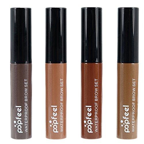 MagiDeal Set de 4 Pièces Impermeable Teinture Sourcils Gel Crème Mascara Longue Durée Maquillage Cosmétique