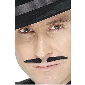 Smiffys Déguisement Homme, Moustache escroc, Autocollante, 22901