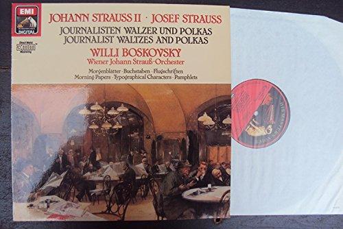 Journalisten Walzer und Polkas. Morgenblätter, Buchstaben, Flugschriften, u.a.. Willi Boskovsky. Direct Metal Mastering Stereo