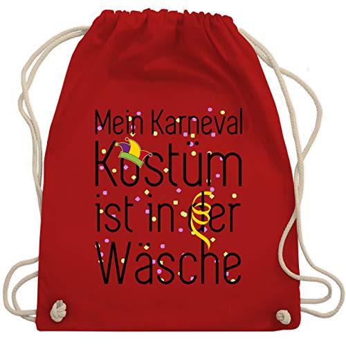 Karneval & Fasching - Mein Karneval Kostüm ist in der Wäsche - Unisize - Rot - WM110 - Turnbeutel & Gym ()
