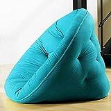 MDS LITTLE NEST, Fauteuil futon convertible pour enfants : douillet, pratique, et confortable - Bleu horizon, Boutons Bleu Horizon