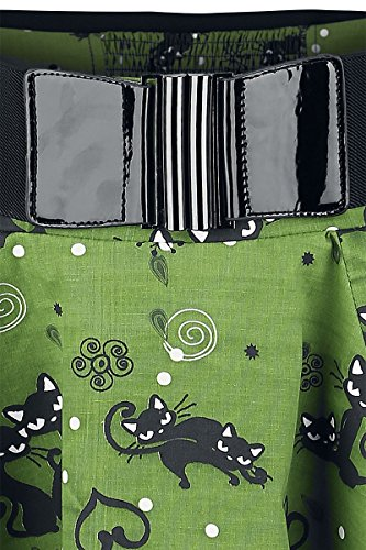 Rockabella Rock FELINE SWING SKIRT grün Grün