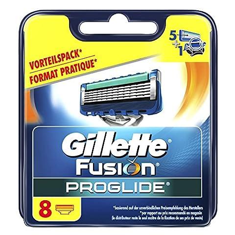 Gillette Fusion ProGlide Lot de 8lames de rasoir pour hommes