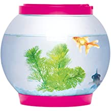 Ø21.5cm 5 litros Light Up Ronda Brillante Cristal Cuenco del acuario del tanque de escritorio LED