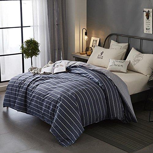 Ganze Saison Verdicken sie Baumwolle Bettbezug, Tröster Cover gedruckt Allergiker-geeignet Fade beständig Weich atmungsaktiv Bettwäscheset-1 160x210cm(63x83inch) -